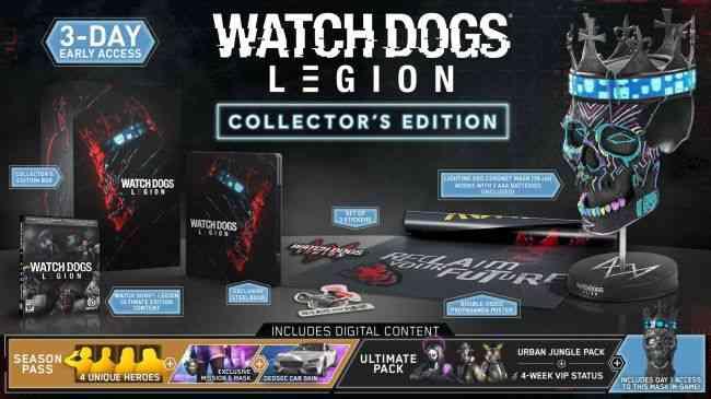 """""""Reserve WATCH DOGS: LEGION agora mesmo e receba o pacote Golden King, que traz uma máscara e estampas douradas para uma pistola e veículos!"""""""