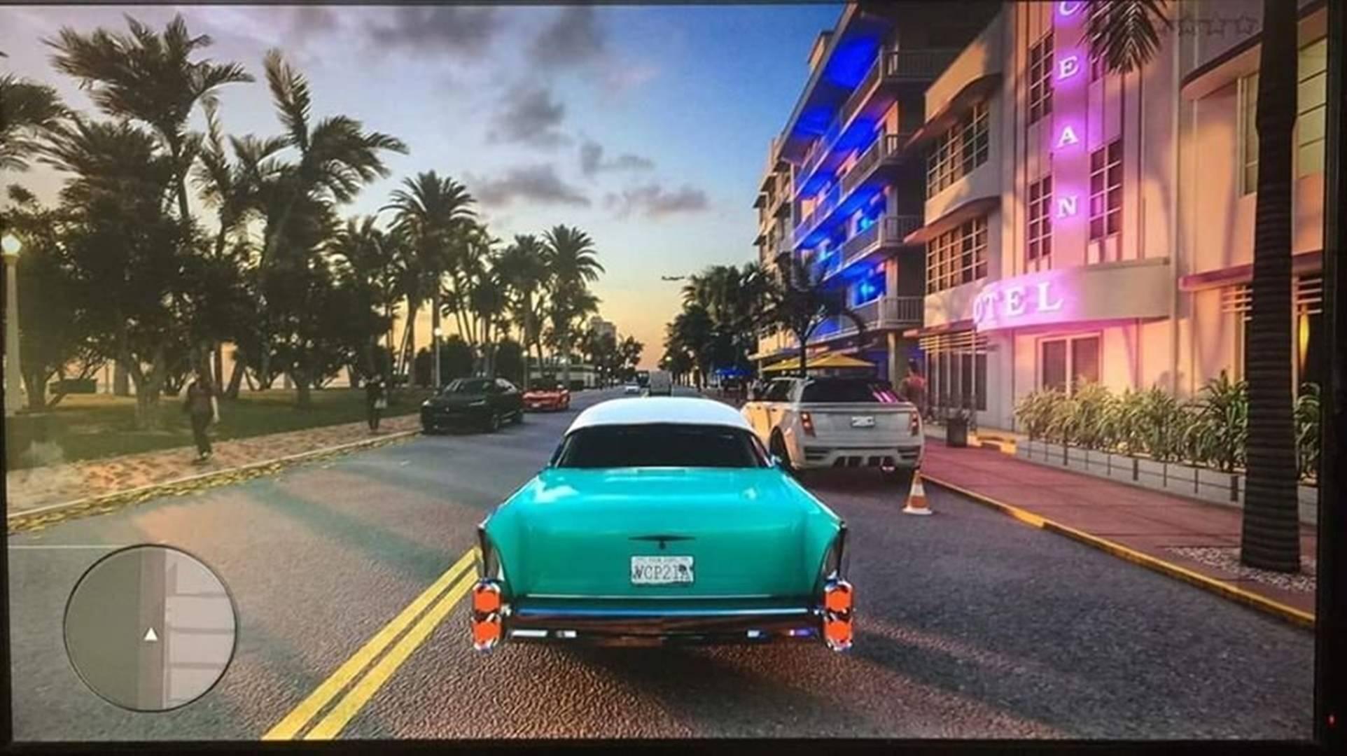 Uma suposta screenshot de Grand Theft Auto VI (GTA 6) está a circular na internet, a imagem foi tirada de um monitor e mostra o jogo em Vice City.