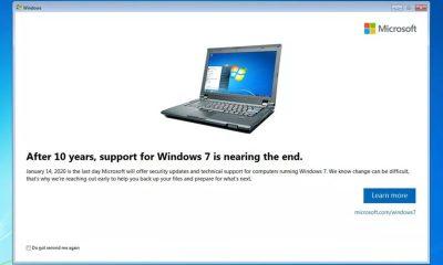 mensagem windows 7