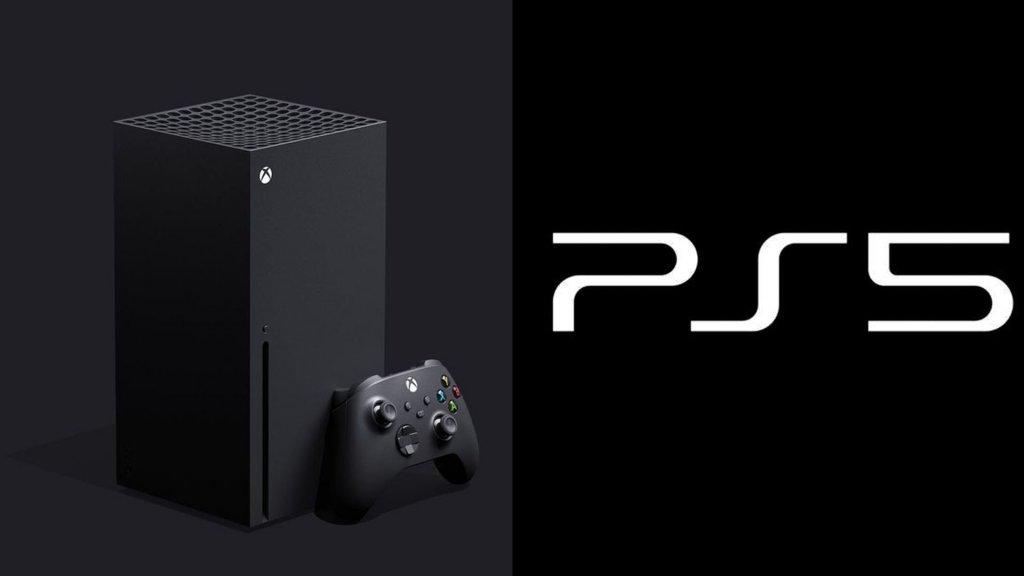 Xbox Series X e logotipo do PlayStation 5