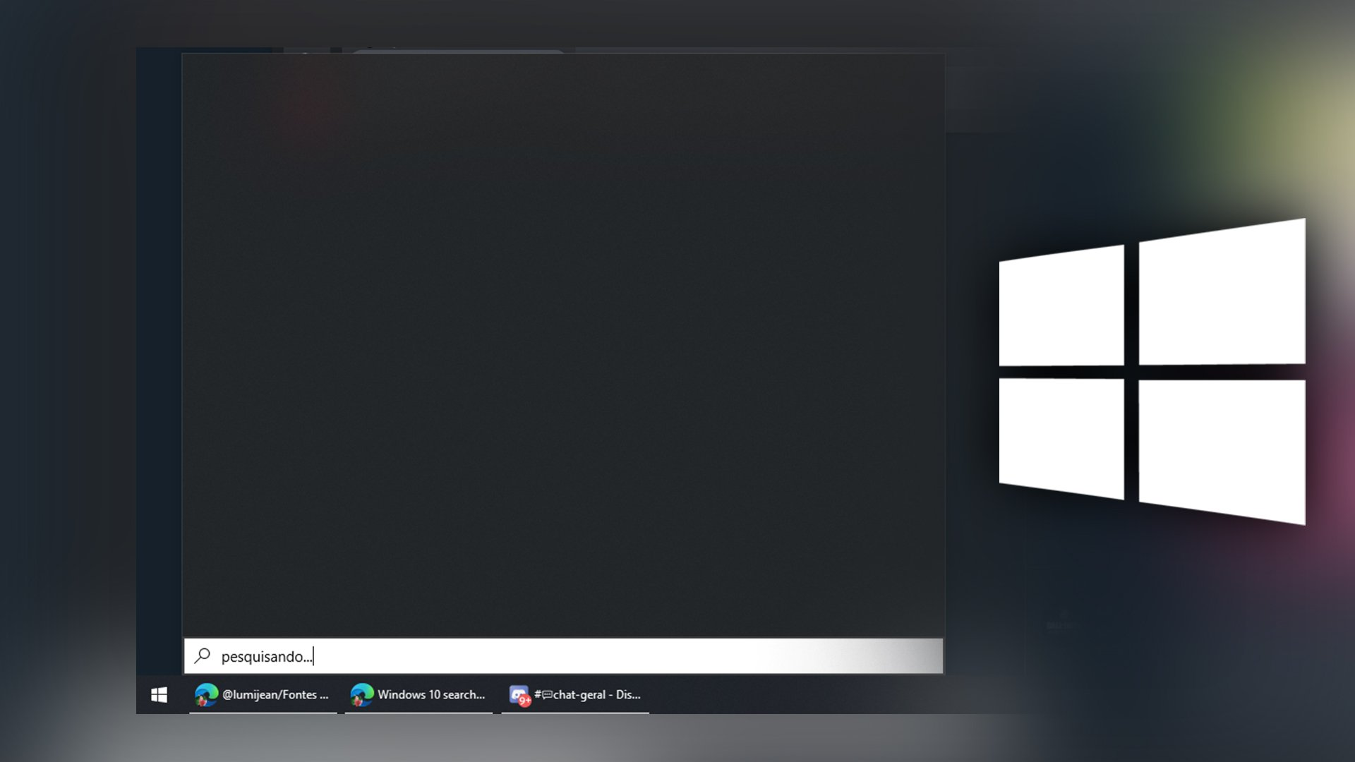 bug menu iniciar
