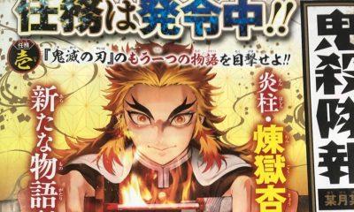 Além de uma terceira light-novel baseada no mangá de Kimetsu no Yaiba, a shueisha confirmou também um spin-off do mangá focado no pilar das chamas.