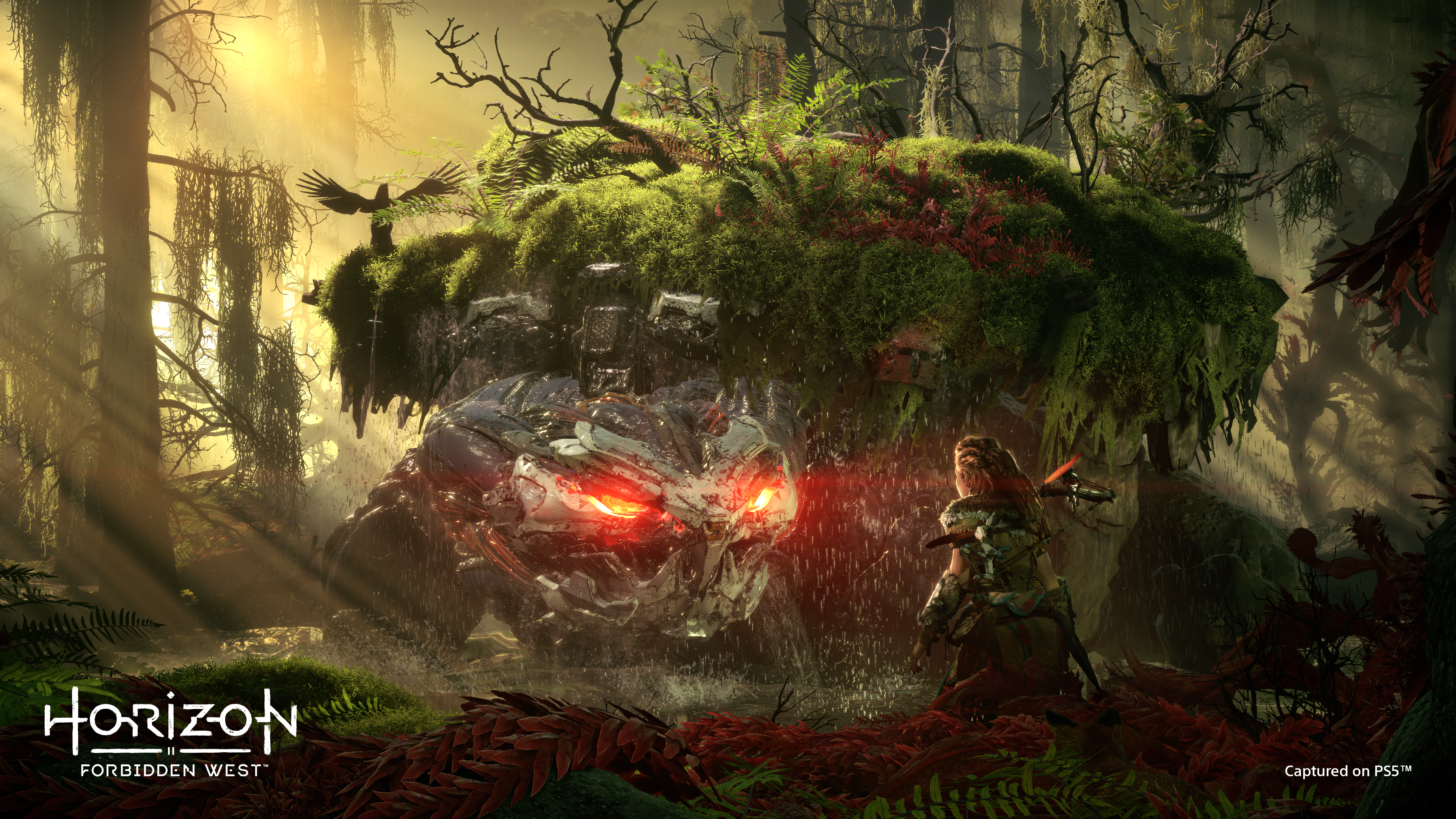 Horizon Forbidden para PS5 West é a sequência de Horizon Zero Dawn, o jogo pós-apocalíptico de mundo aberto, estrelado por uma jovem heroína.