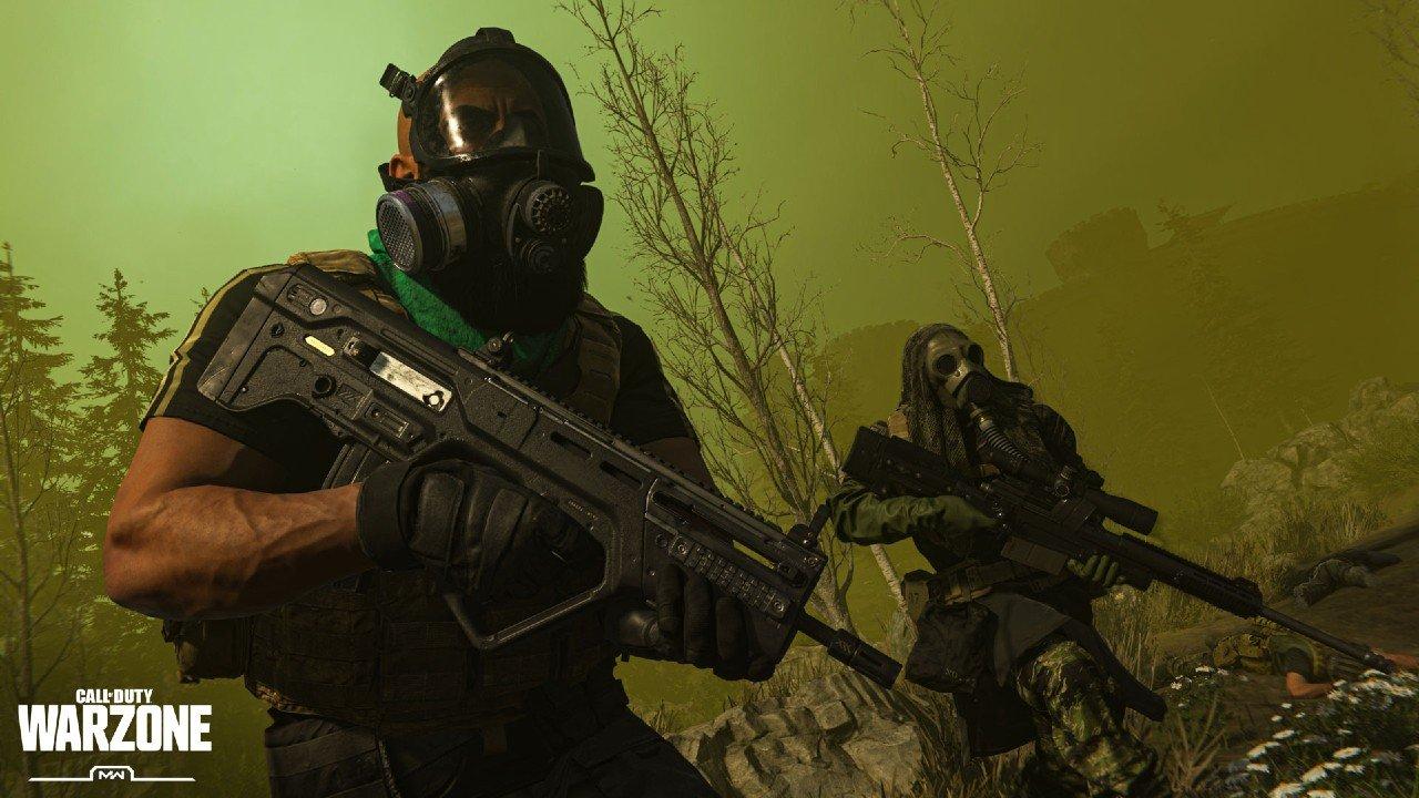 Seth 'Scump' Abner encontrou um bugs bem exclusivo de Warzone enquanto estava no Gulag e do nada teve que usar uma máscara de gás :V