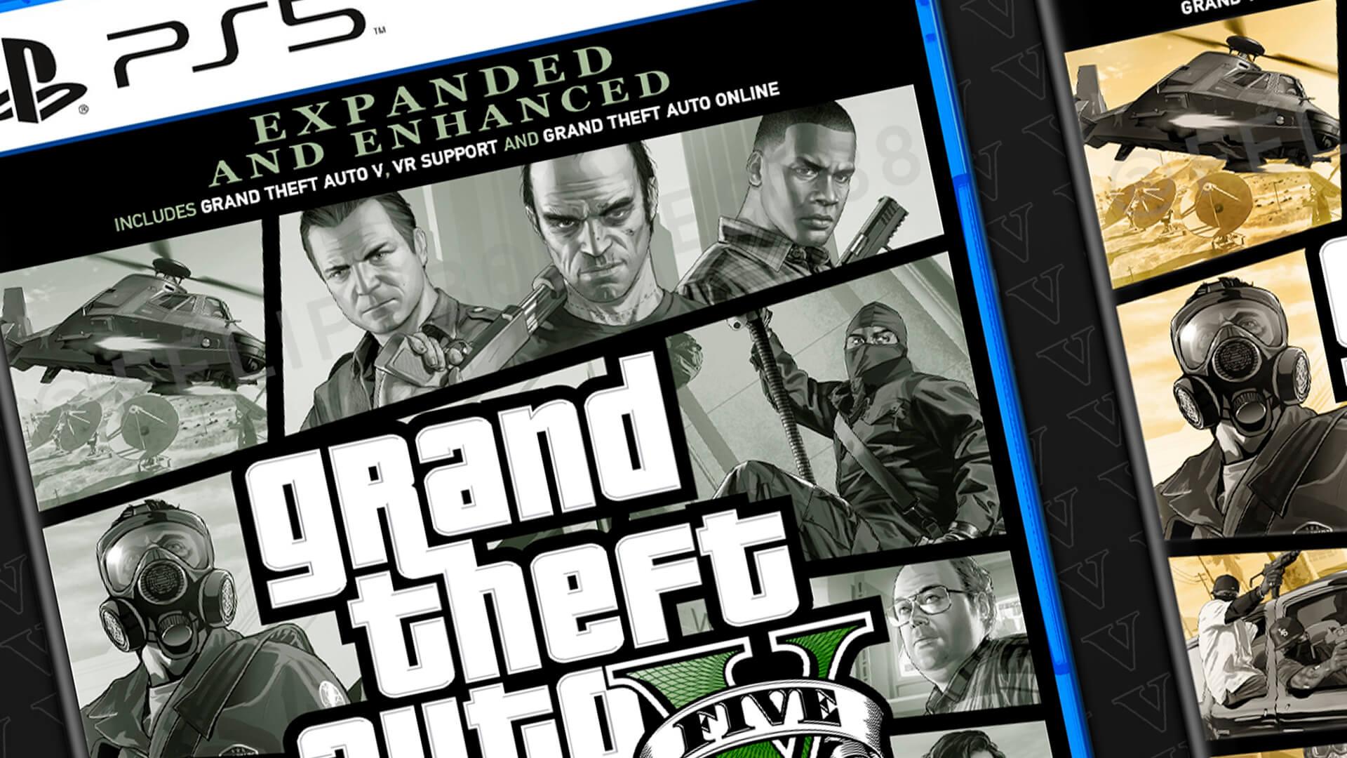 Felipe Borges, fã brasileiro da Rockstar Games e de GTA 5 mostrou no Twitter a sua versão das capas de Grand Theft Auto V para PlayStation 5.