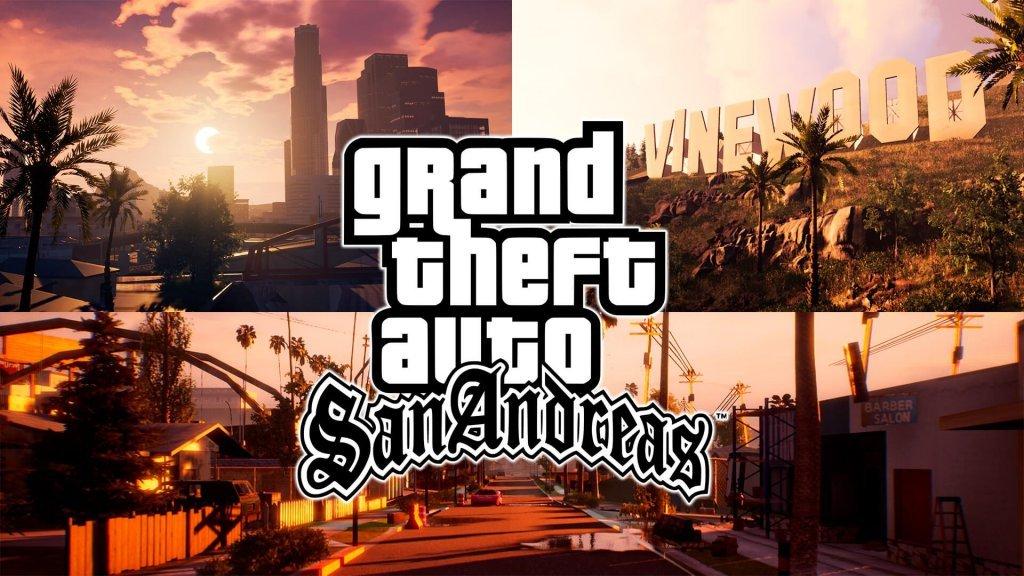 Imagens de Grand Theft Auto San Andreas na Unreal Engine 4 feito por um fã!