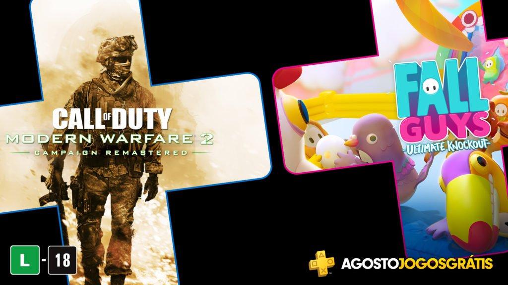 Call Of Duty Modern Warfare 2 Remastered e Fall Guys Ultimate Knockout são os dois jogos da PS Plus para PlayStation 4.