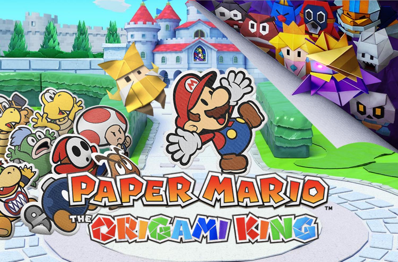 Vídeo de Paper Mario: The Origami King mostra como os jogadores podem se aproximar de um Chain Chomp adormecido e acariciá-lo.
