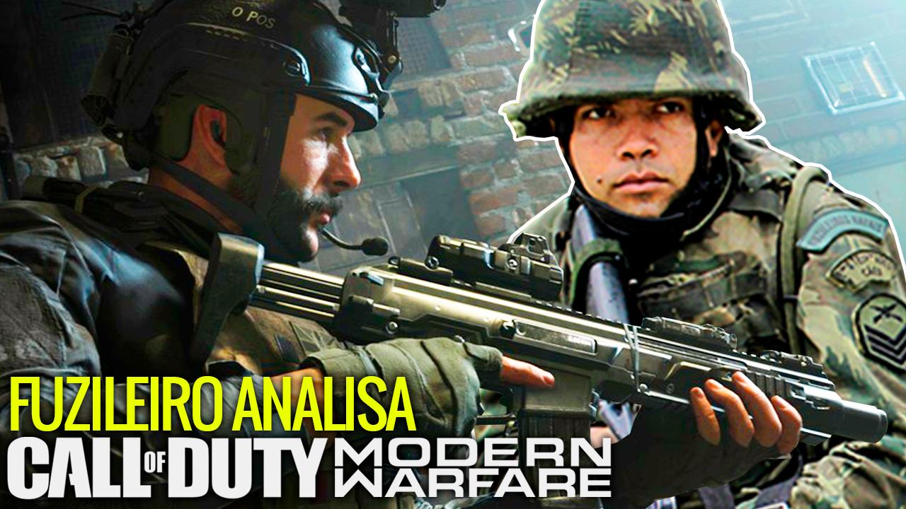 FUZILEIRO NAVAL NA VIDA REAL ANALISA CALL OF DUTY: MODERN WARFARE!