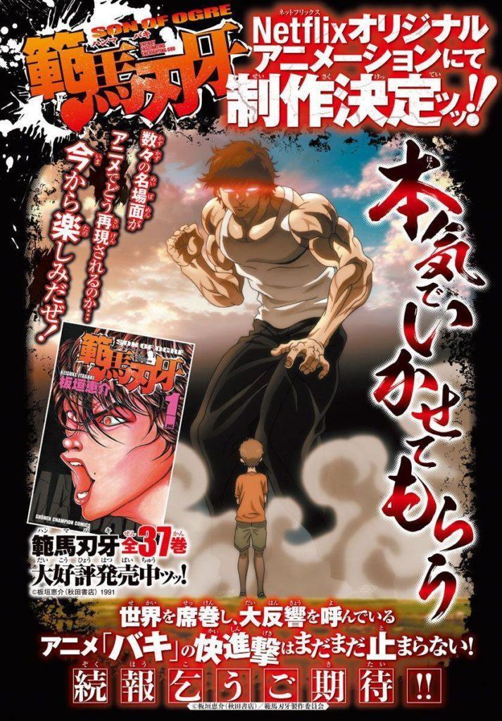 Baki 3 Son of Ogre   Anime ganha 3°temporada na Netflix 1