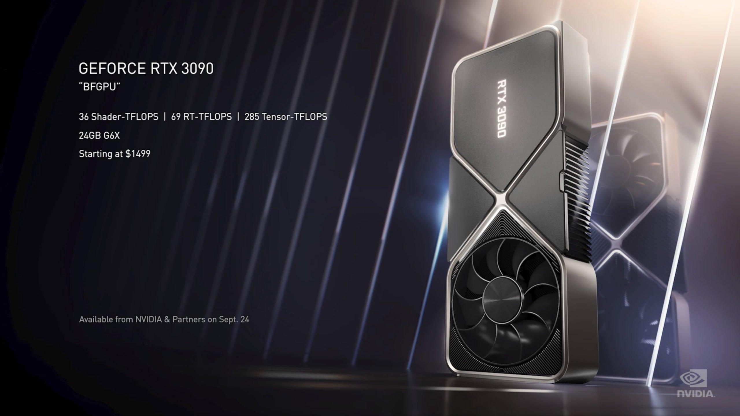 A Nvidia acabou de anunciar a nova geração de placas de vídeo que vão chegar ao mercado agora em setembro junto com a poderosa RTX 3090.