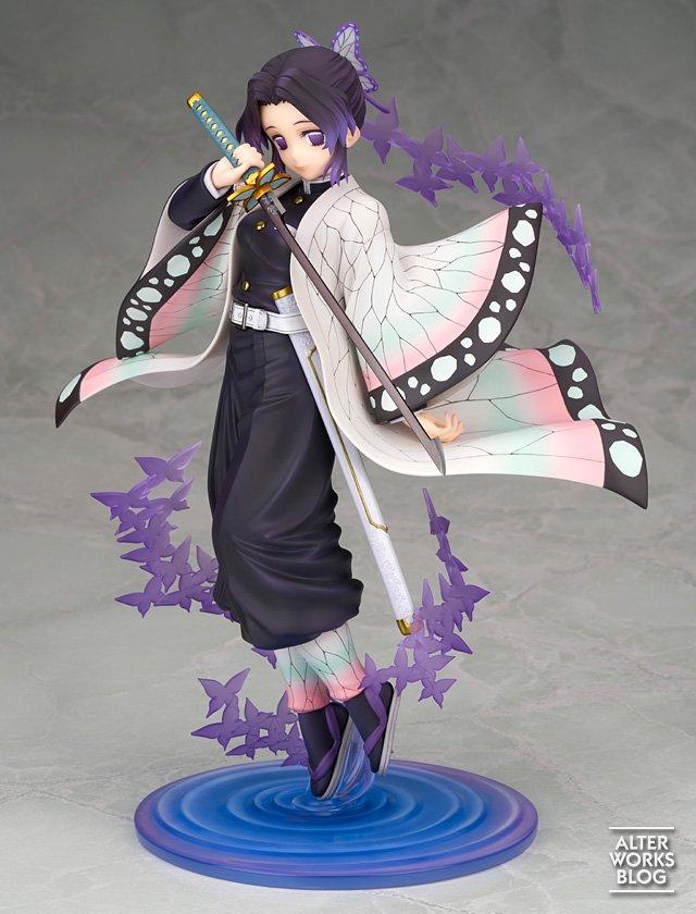 Uma empresa divulgou hoje (23), imagens de seu novo produto, uma figure em escala 1/7 de Shinobu Kocho do anime Kimetsu no Yaiba.
