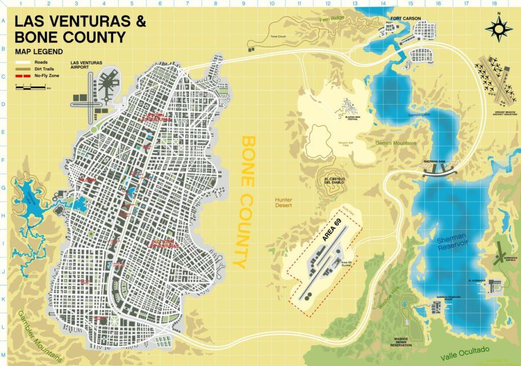 GTA 6 | Fã fez mapa baseado na cidade fictícia de Las Venturas 1