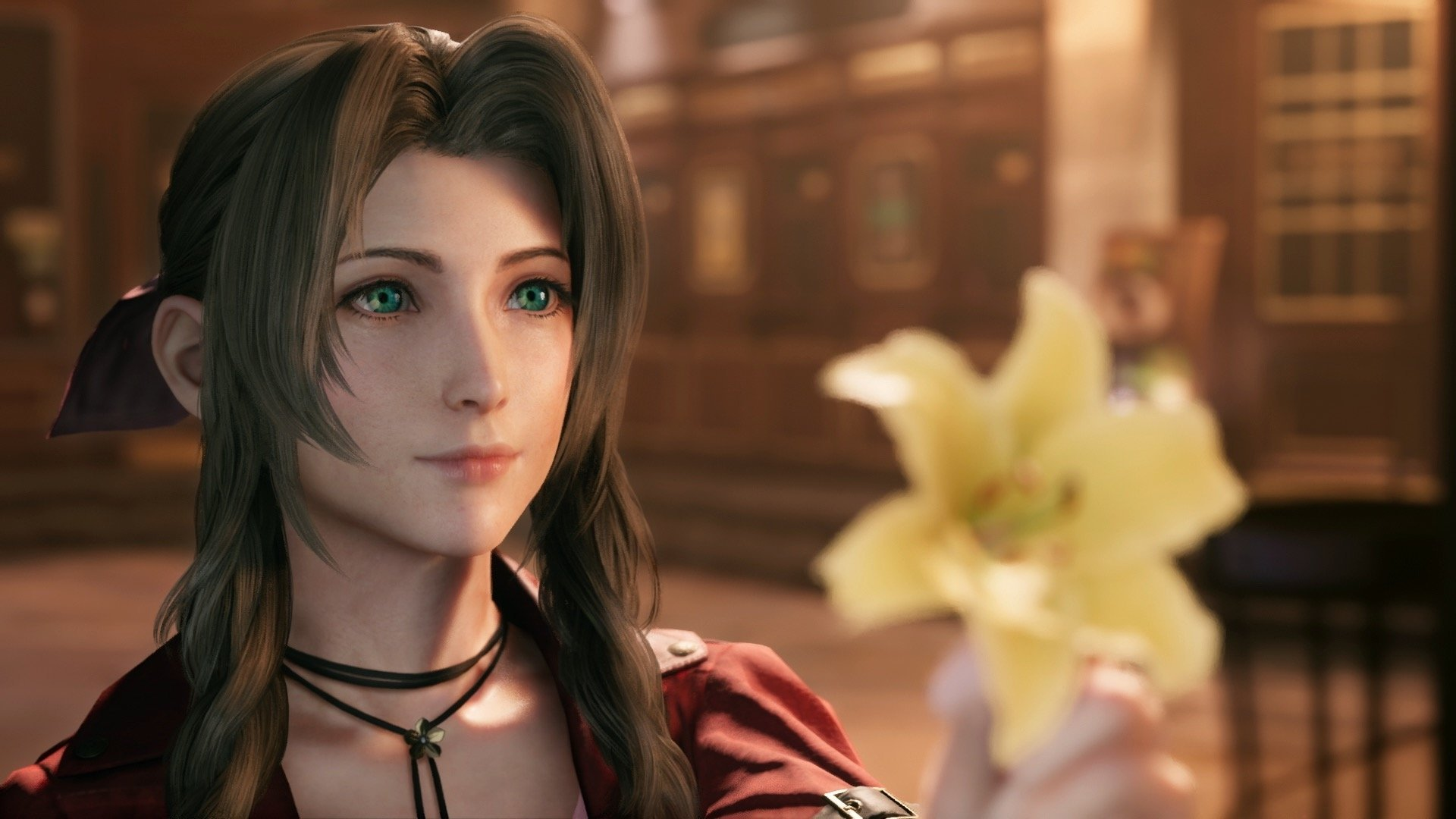 Briana White, a dubladora inglesa de Aeris em Final Fantasy VII Remake, fez o melhor cosplay da personagem que você já viu.