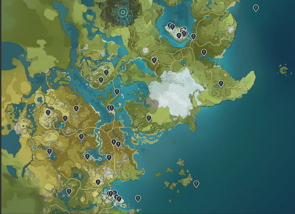Genshin Impact mapa