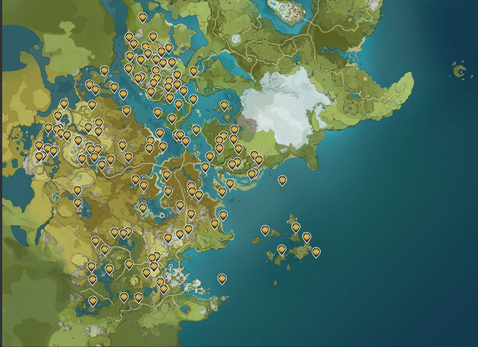 Genshin Impact | Localização de todos os baús, anemoculus, geoculus e muito mais 2