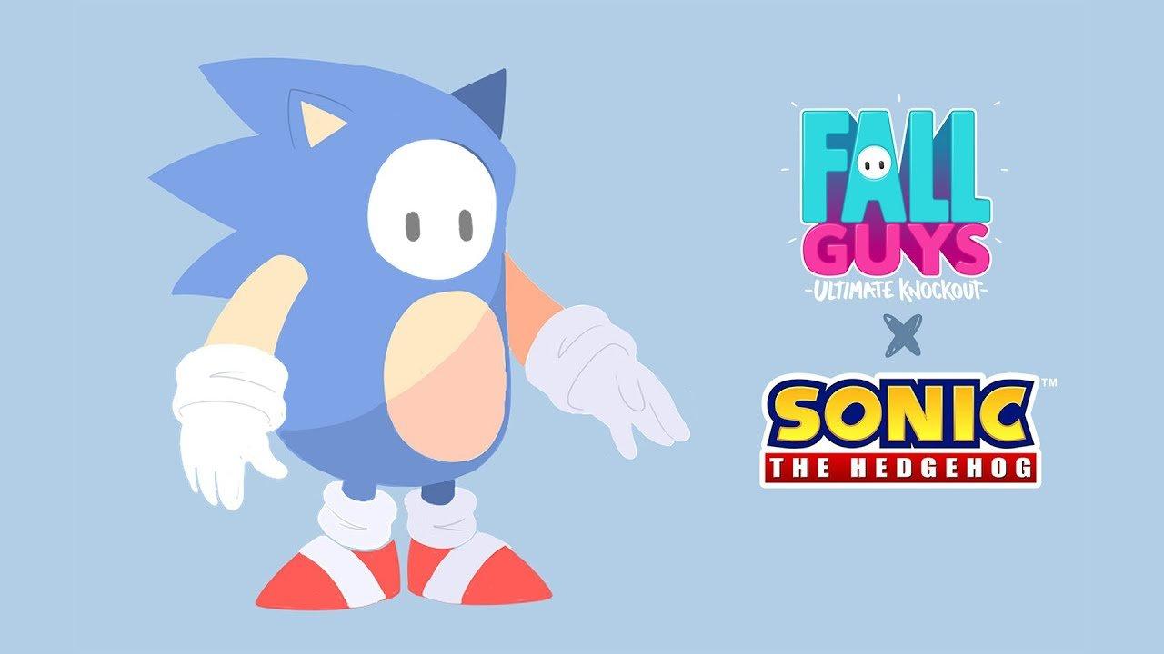 Foi hoje confirmado junto com a data. A colaboração entre a Mediatonic e SEGA para trazer uma skin de Sonic para Fall Guys.