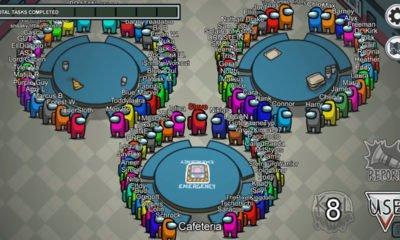 FatMemeGod compartilhou um vídeo em seu canal mostrando como seria jogar Among Us com 100 pessoas no mesmo mapa.