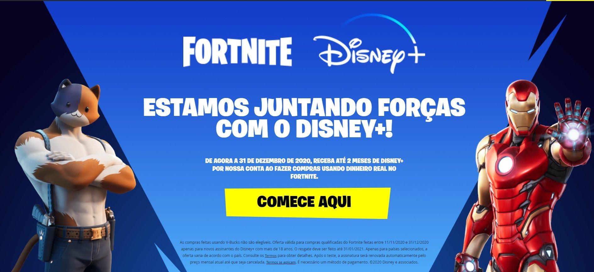 Os jogadores do Fortnite poderam adquirir dois meses de acesso ao Disney+ atráves de uma promoção, veja como você pode participar.