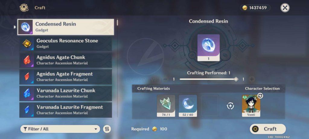 Genshin Impact   Como desbloquear e criar Resina Condensada 1