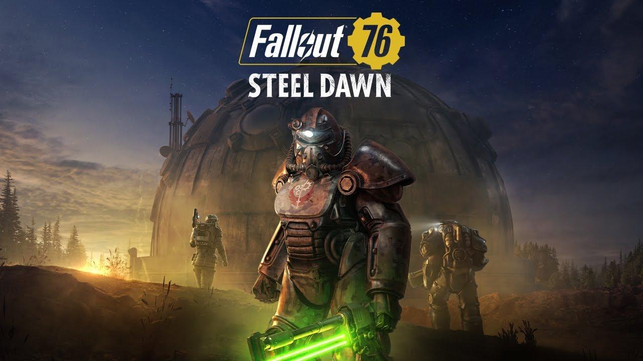 """Um novo trailer de Fallout 76: """"Steel Dawn"""" anunciou a data de lançamento da nova DLC, que trará a Brotherhood of Steel ao game."""