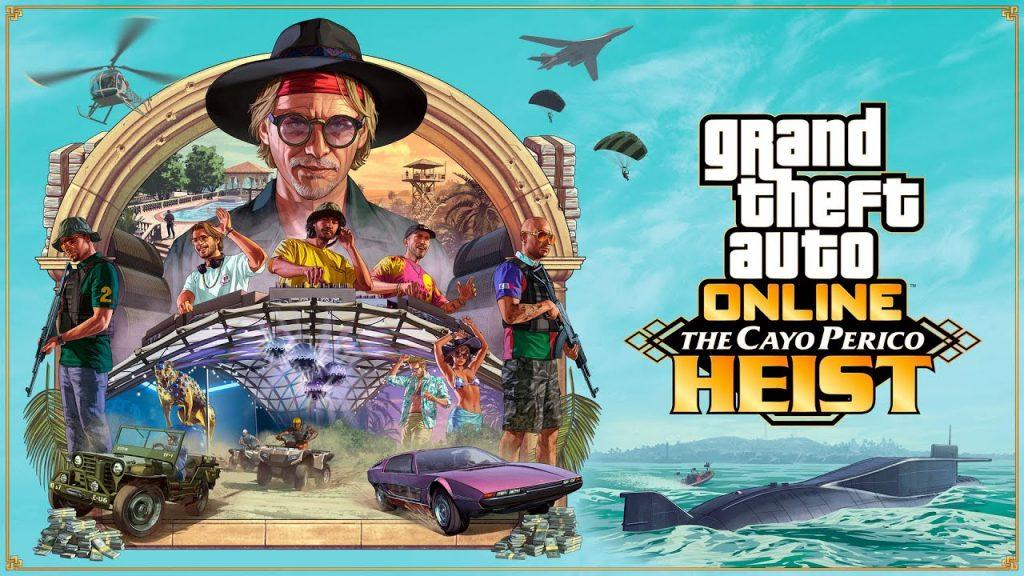 """A Rockstar Games lançou recentemente a DLC """"The Heist of Cayo Perico"""" para GTA Online."""