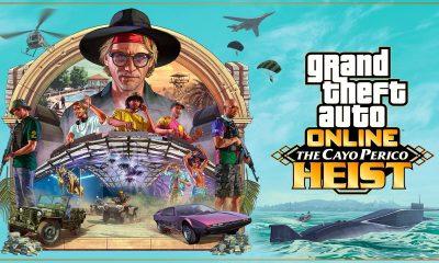 """A Rockstar Games acabou de divulgar mais um trailer da aguardada DLC """"The Heist of Cayo Perico"""" para GTA Online que vai chegar ao jogo."""