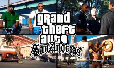 GTA San Andreas foi lançado no PS2, foi um grande sucesso que levou o console na época ao limite, este game alcançou uma grande popularidade.