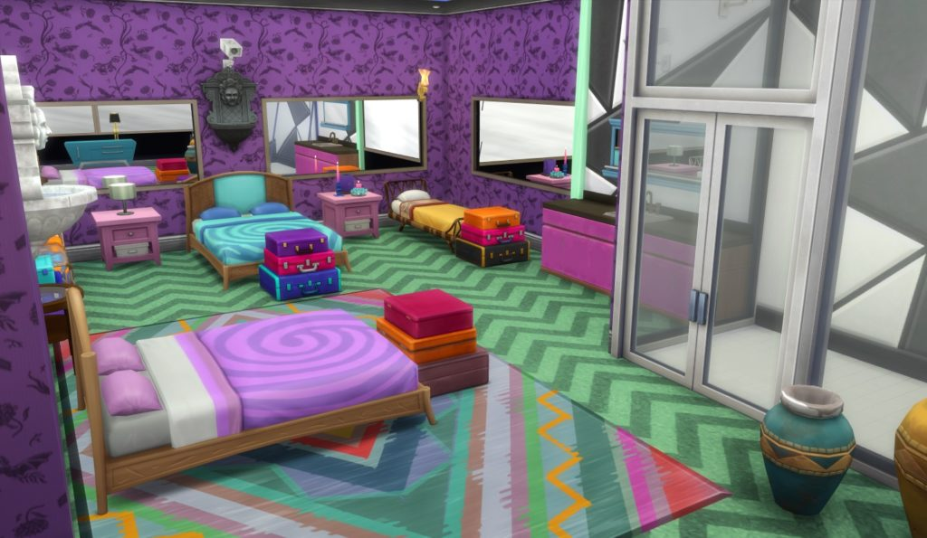 Um dos quartos da casa do BBB21 recriado no The Sims 4.