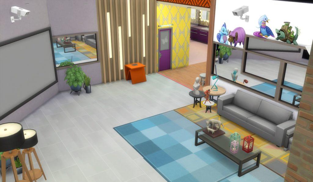 A casa do Big Brother Brasil 2021 foi recriada no The Sims 4.