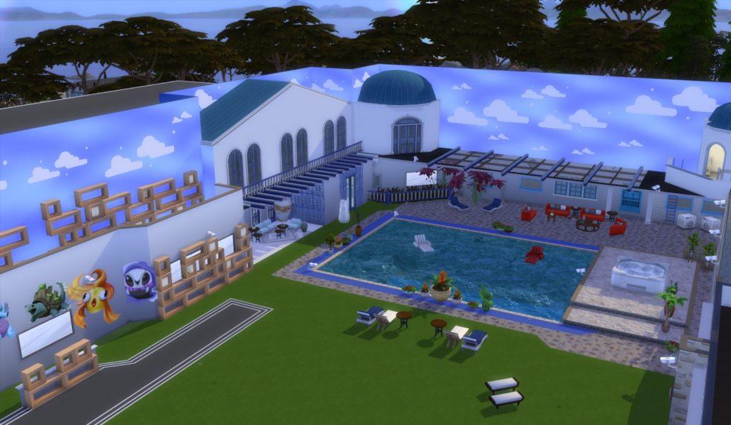 Vista geral da parte externa da casa do Big Brother 21.