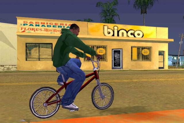 A roupa inicial do CJ em GTA San Andreas é da marca Binco.