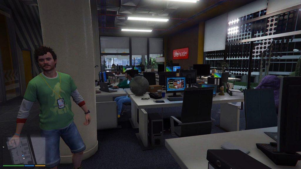 Escritórios da LiveInvader no GTA 5.