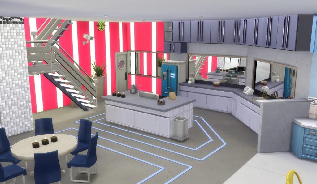 A cozinha do BBB21 recriada no jogo da EA Games.