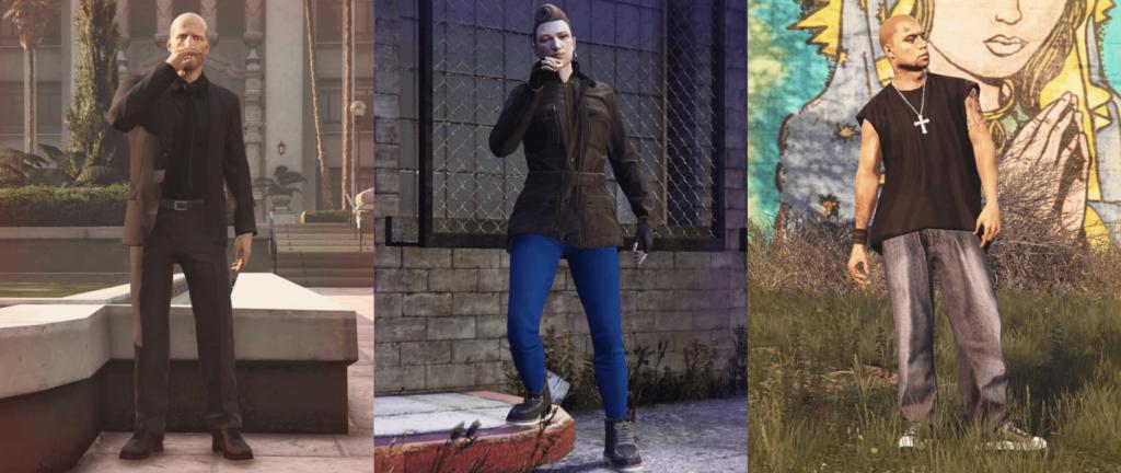 Estes são os três personagens de GTA VI