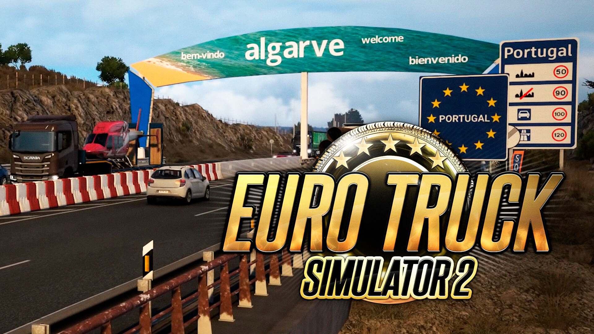 O Euro Truck Simulator 2, o famoso simulador de caminhões vai adicionar Portugal e Espanha na próxima atualização paga do jogo.