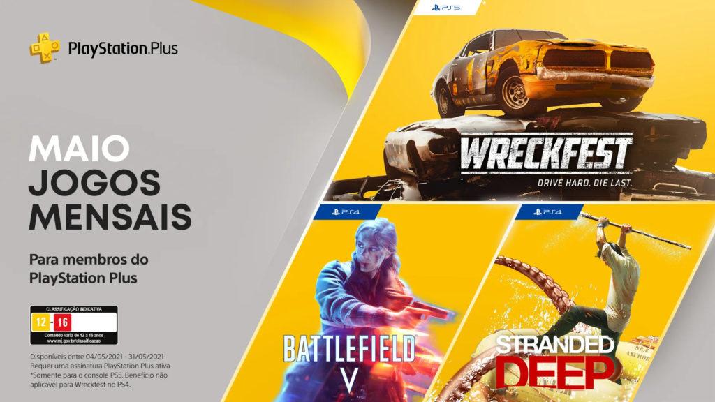O Portal espanhol Areajugones acertou Battlefield V e Stranded Deep como títulos da PS Plus do mês passado.