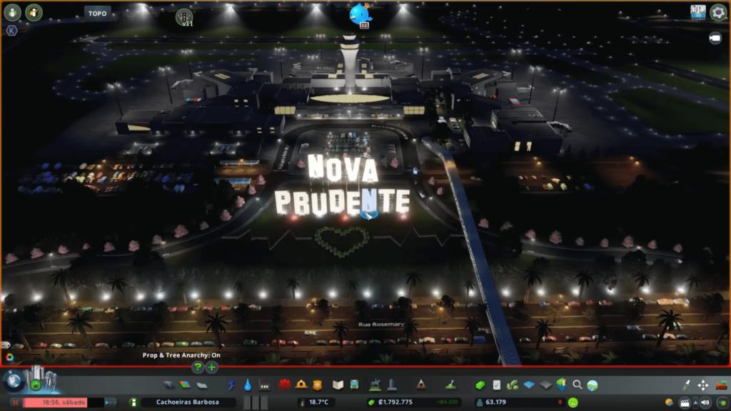 Aeroporto de nova prudente é um dos destaques da série de Cities Skylines de Barbosa Cities.