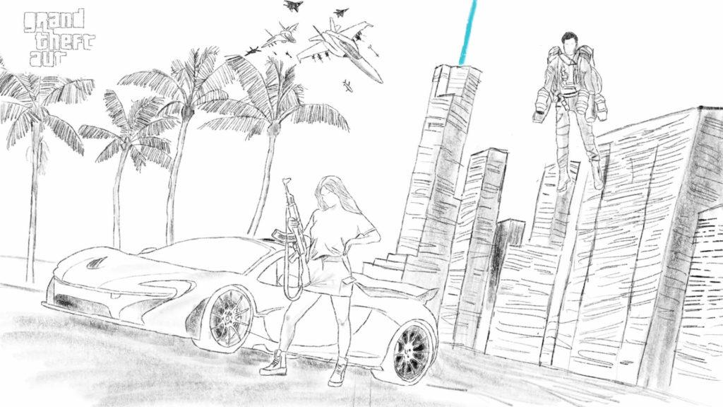 Konzeptzeichnung von GTA 6 von Tom Henderson.