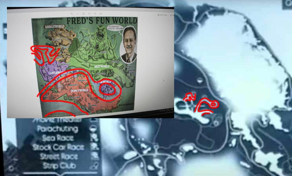 O exato parque temático existe no mapa vazado de GTA 6