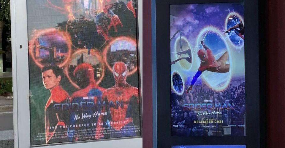 Cartazes falsos do Homem Aranha 3 aparecem nos cinemas.