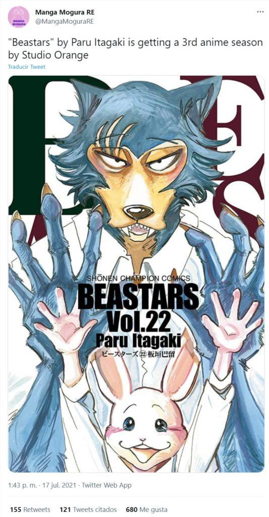 A terceira temporada de Beastars está confirmada!