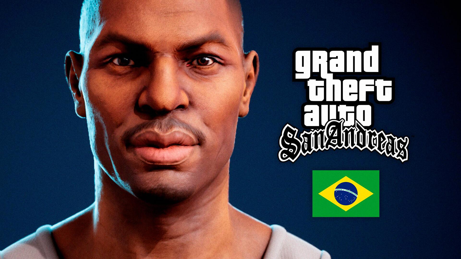 GTA San Andreas   Fã brasileiro recria Carl Johnson em HD! 5