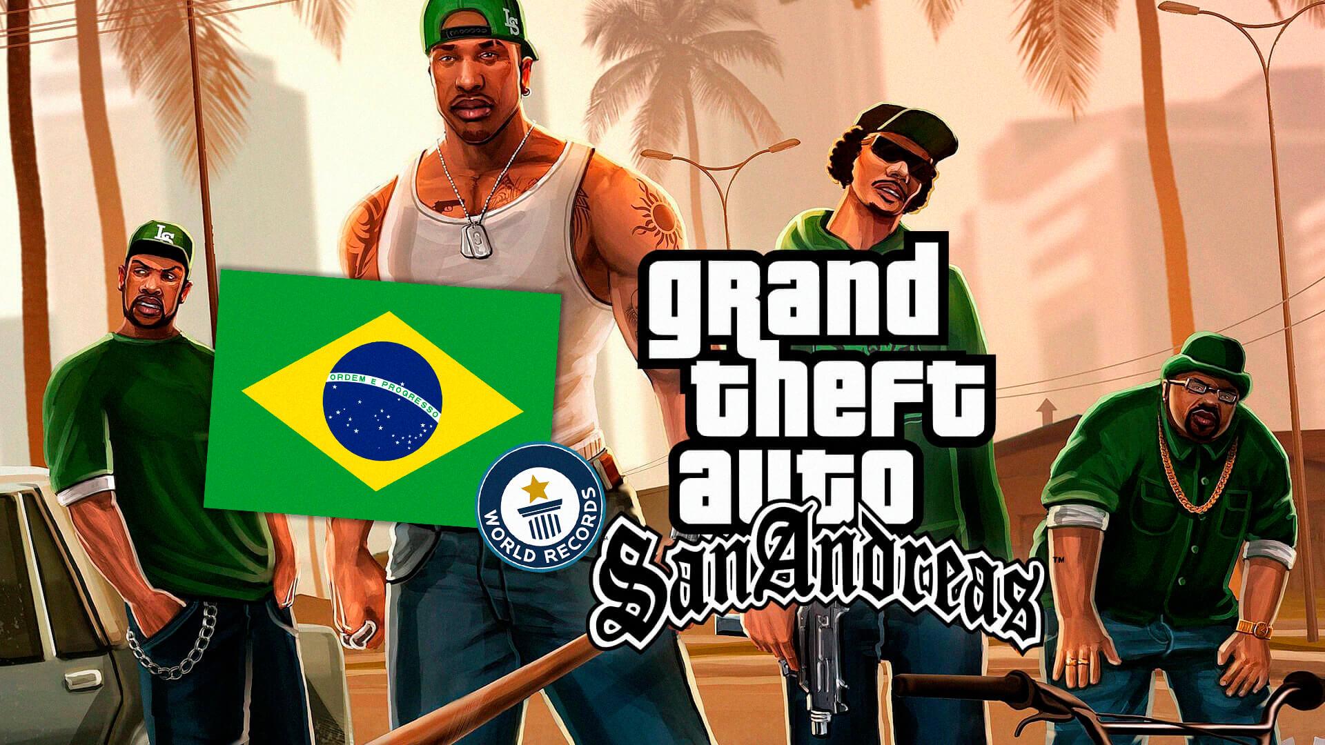 GTA San Andreas   Brasileiro bate recorde e posta no YouTube 1