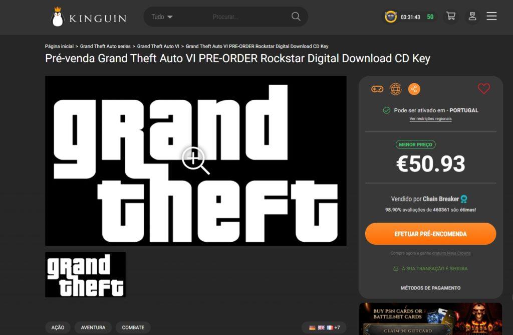 GTA 6   Kinguin começa a pré-venda do jogo da Rockstar Games 1