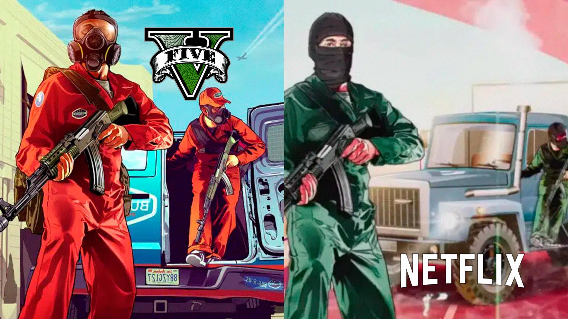 Os fãs da Rockstar Games estão acusando uma nova série da Netflix de copiar as artes de GTA Online e Grand Theft Auto 5.