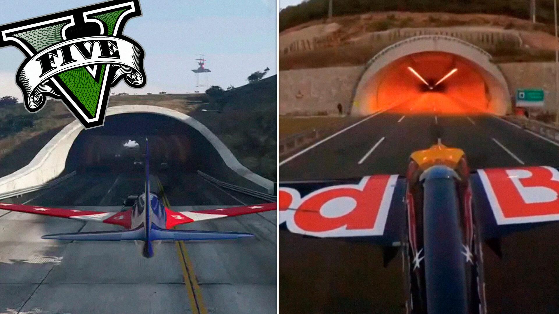 GTA 5   Surreal! Piloto de avião entra em um túnel na vida real! 1